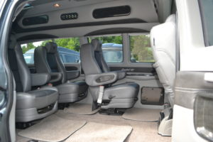 Easy to remove Center Seats for versatile Cargo or Passenger needs. Move some Furniture or Move the Team. Conversion Van Land