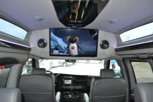 Explorer Van Flat Screen TV