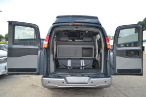 Large Rear Cargo Area, Great for Family or Team Travel Mike Castrucci Conversion Van Land