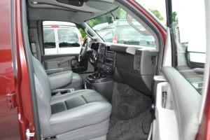 Comfortable family travel explorer van