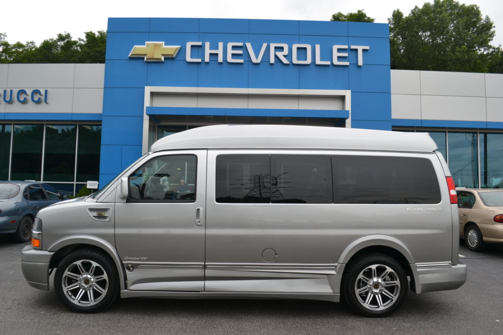 2017 Chevrolet Express Explorer Limited X-SE Hi top Conversion Van H1218828 Silver Ice Metallic Fade Mike Castrucci Conversion Van Land