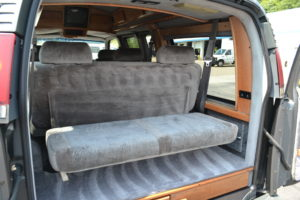Rear Seat with Flip Down makes for flexible Storage Options