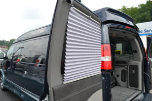 Shades on all Rear Passenger Side Windows and Doors Explorer Conversion Vans Mike Castrucci Chevrolet