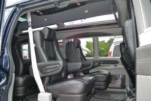 Black Leather Seating Explorer Van Company
