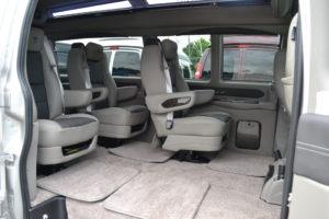 Quick Release Center Captain Chairs Conversion Van