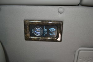 USB Charging Ports, Enough for All 6 Available in Rear passenger area Conversion Van Land