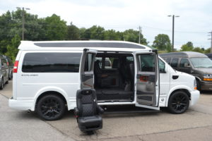 1 of 4 Easy Quick Release Center Captain Chairs, Move People or Cargo Explorer Conversion Vans