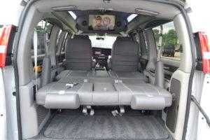 Explorer Van Rear Sofa made into a bed