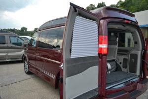 Conversion Van with shades