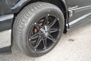 New 20 in. Black Wheels, 265/50 R20 111V BF Goodrich Advantage T/A.