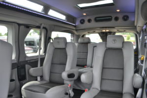 The Legendary Comfort of Explorer Van Seating, Travel Comfortably with Plenty of room for an Adult in every seat. With all of the Fun Entertainment options, this van truly makes travel a Pleasure. Enjoy the Ride!