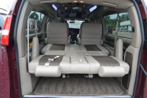 rear bed explorer van
