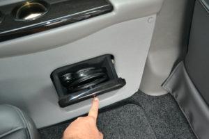 Wireless Headphone Storage Compartment