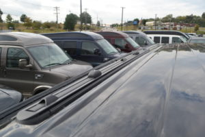 Lo-Pro Tracks consists of two tracks mounted to the roof top of the van providing a sleek finished look to the top. The Lo-Pro comes complete with sliding Tie Downs, and Cross-Bar Anchors. ProRac Pro-File Cross-Bars can be added to the Lo-Pro Tracks providing a fully functional roof rack capable of carrying any of the ProRac application products.