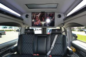 Rear TV simulcast for Rear Facing Passengers