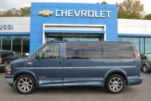 2018 Blue Diamond Metallic Explorer Van Company