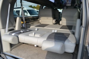 Power Rear Sofa Make into a Bed Great for a Nap or Cargo Mike Castrucci Conversion Van Land