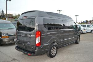 Magnetic Metallic Ford Transit 9 Passenger Luxury Van