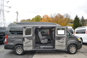 Explorer Conversion Vans Ford Transit 9 Passenger Magnetic Gray Metallic