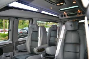 Comfortable Travel Room for 9 PAssengers Explorer Van Company