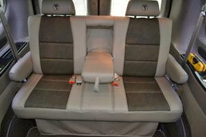 Large Rear Sofa, Comfortable for 3 Passengers. Explorer Van Travel made Easy