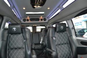 9 Passenger Explorer van interior