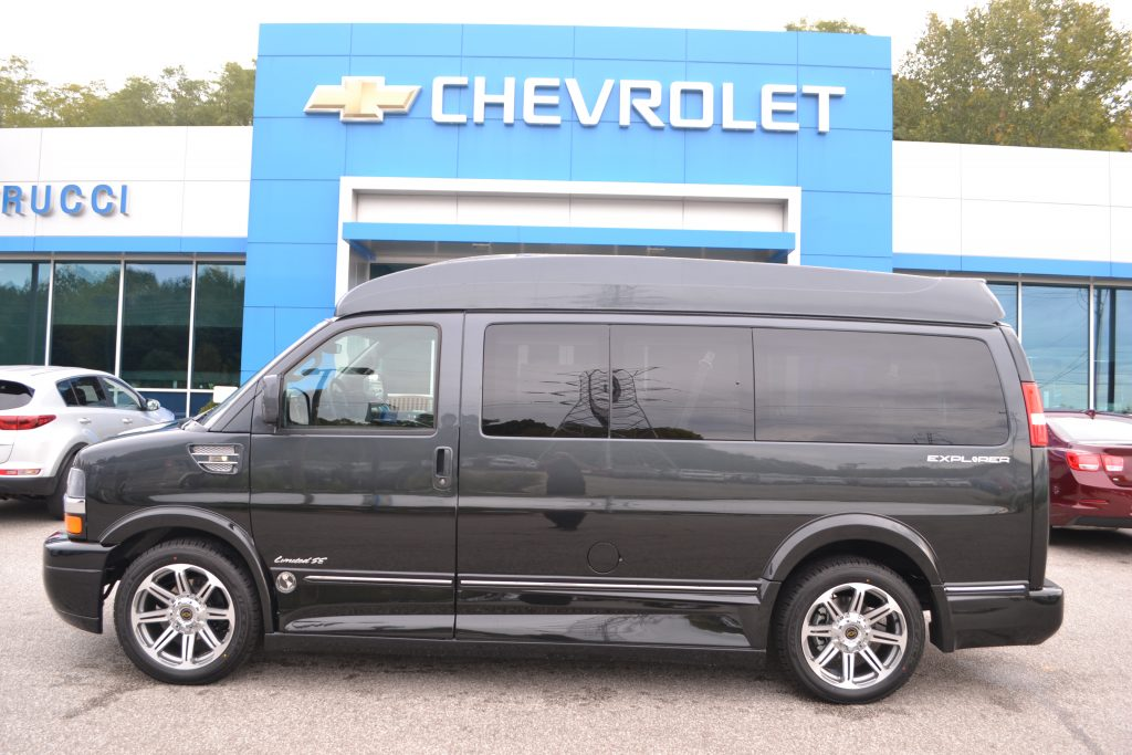 2017 Chevrolet Express, Explorer Limited X-SE Graphite Metallic Fade to Black Conversion Van Land