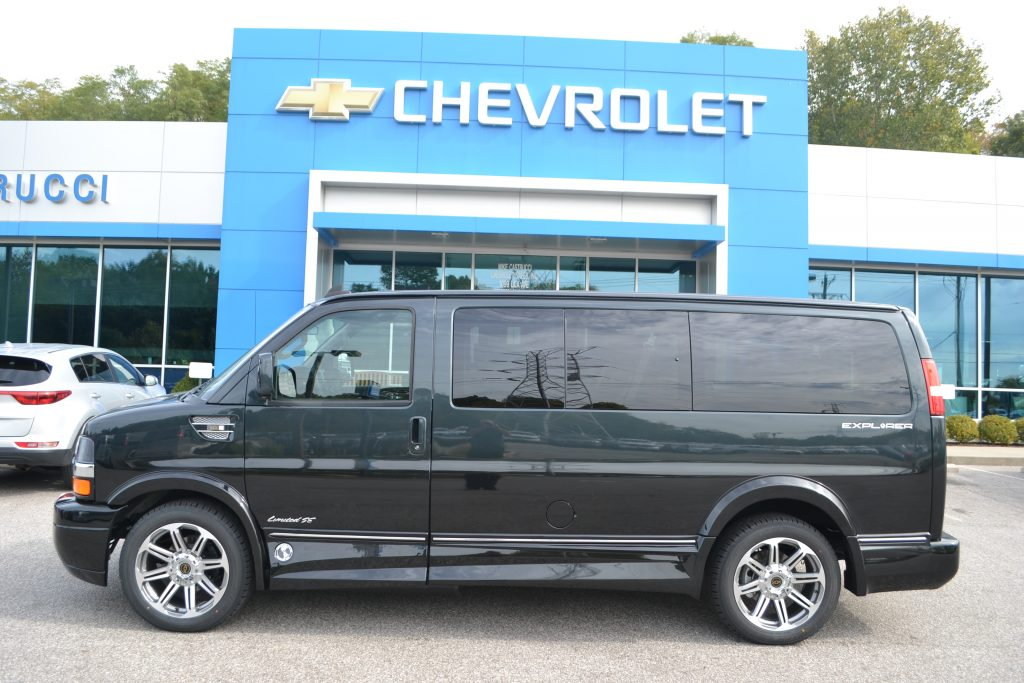 2017 Chevrolet Express Explorer Limited X-SE Graphite Metallic Fade to Black Low Top Conversion Van Land