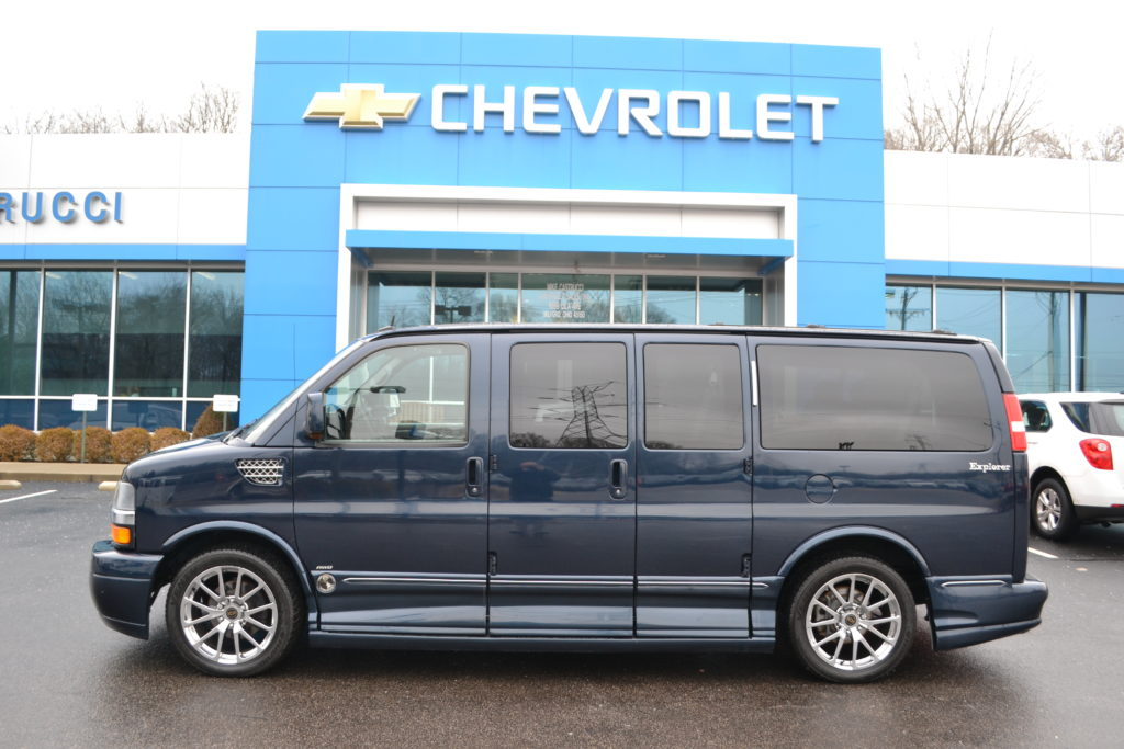 2012 AWD Chevrolet Express Explorer Limited X-SE Dark Blue Metallic C1140174  Mike Castrucci Chevrolet Conversion Van Land