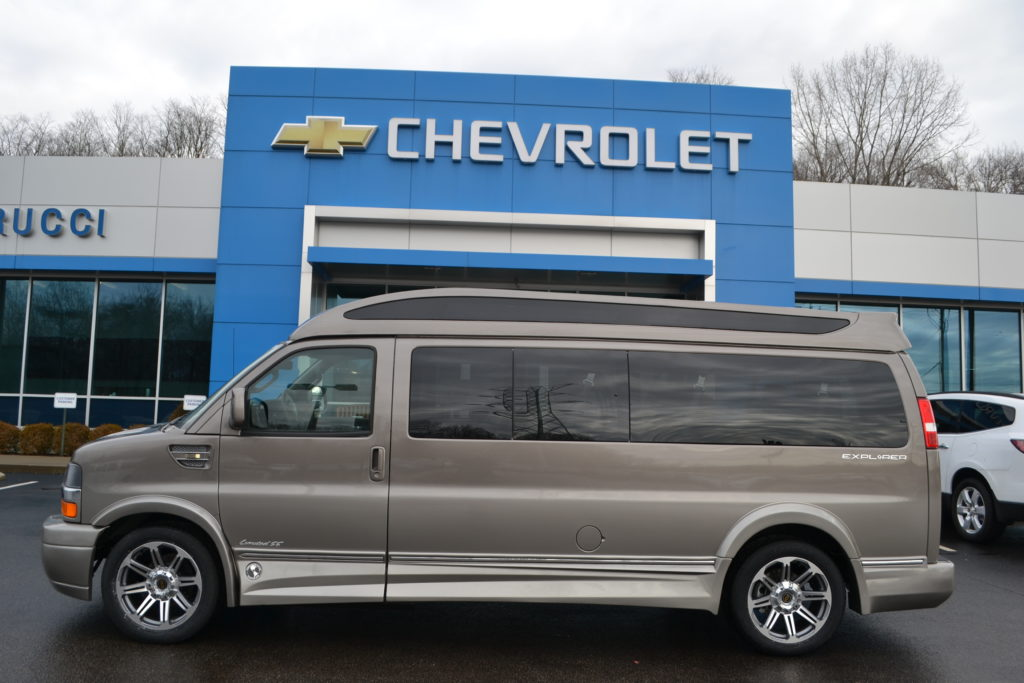 2017 9 Passenger Chevrolet Express Explorer Limited X-SE VC Brownstone Fade H1333963 Mike Castrucci Chevrolet Conversion Van Land