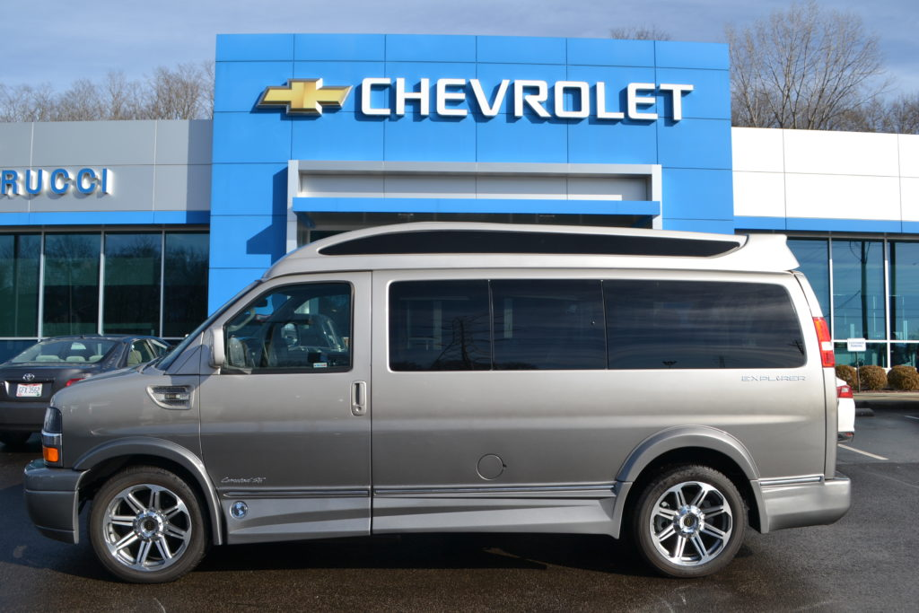 2017 Chevrolet Express Explorer Limited X-SE VC Silver Birch Fade H1278803 Mike Castrucci Chevrolet Conversion Van Land.
