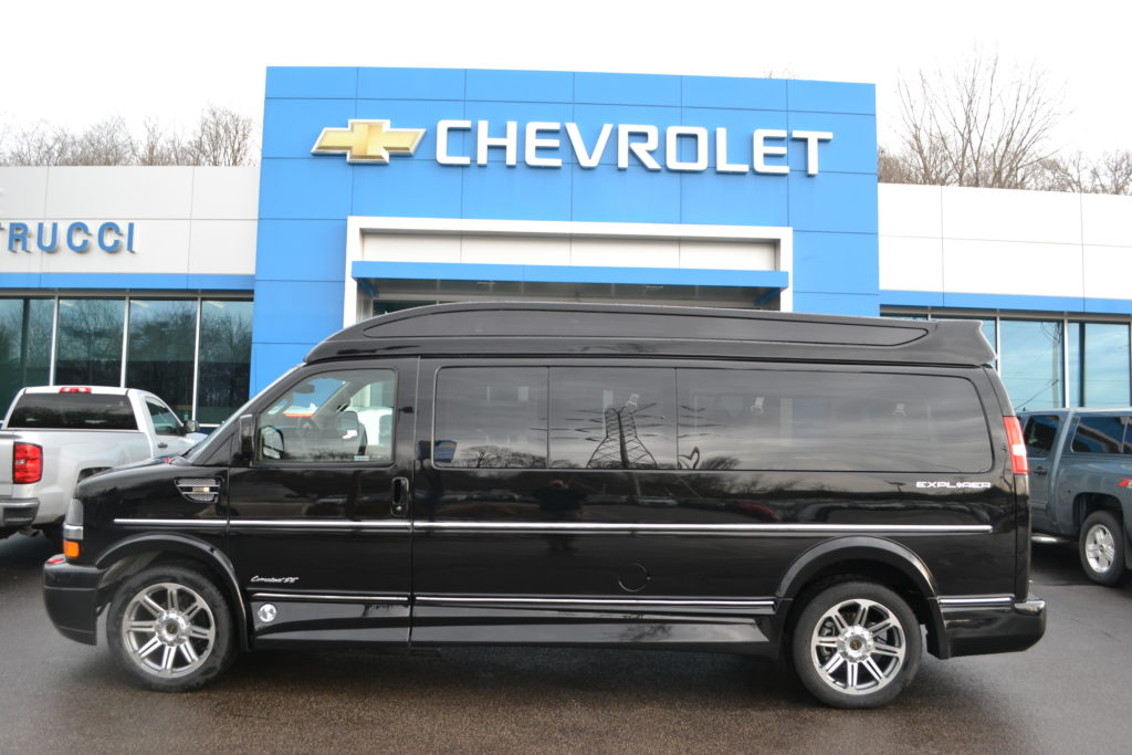 2017 Chevrolet Express 9 Passenger Explorer Limited X-SE VC Black H1333217 Mike Castrucci Chevrolet Conversion Van land