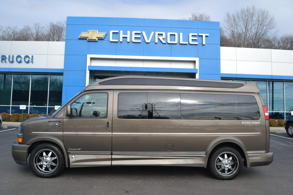 Brownstone Metallic 9 Passenger Explorer Van Co Mike Castrucci Chevrolet Conversion Van Land H1215948