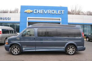 2018 Chevrolet Express 9 Passenger Explorer Limited X-SE Blue Diamond Metallic J1166236