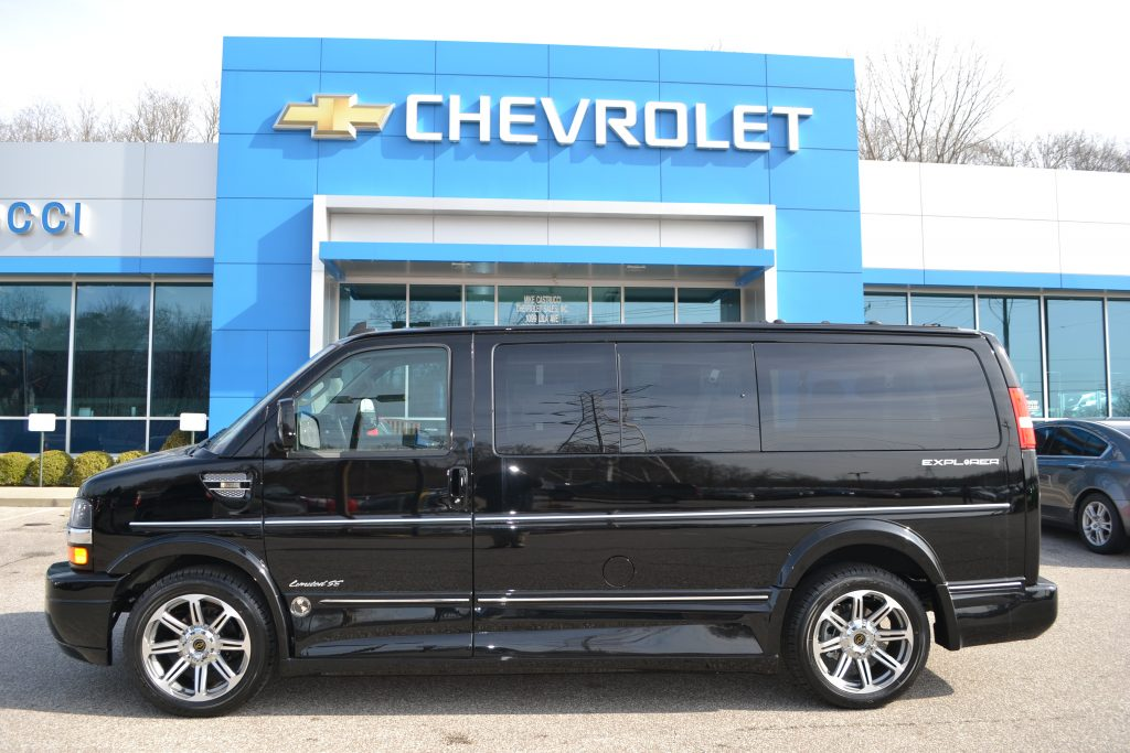 2017 Chevrolet Express Explorer low Top Conversion Van Black Mike Castrucci Chevrolet