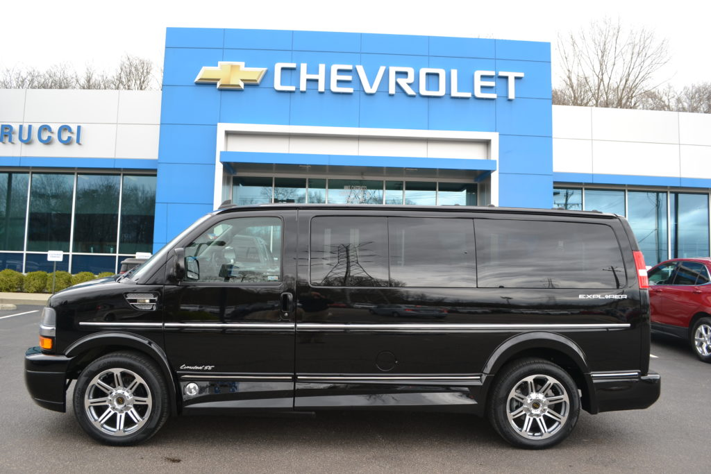 2018 Black Chevrolet Express Explorer Limited X-SE Low Top Mike Castrucci Chevrolet Conversion Van Land J1161653