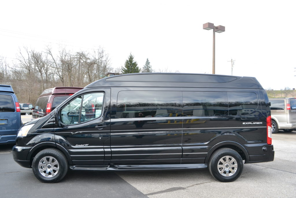 2018 Ford Transit 9 Passenger Explorer Limited SE Black JKA53458 Mike Castrucci Ford Conversion Van Land
