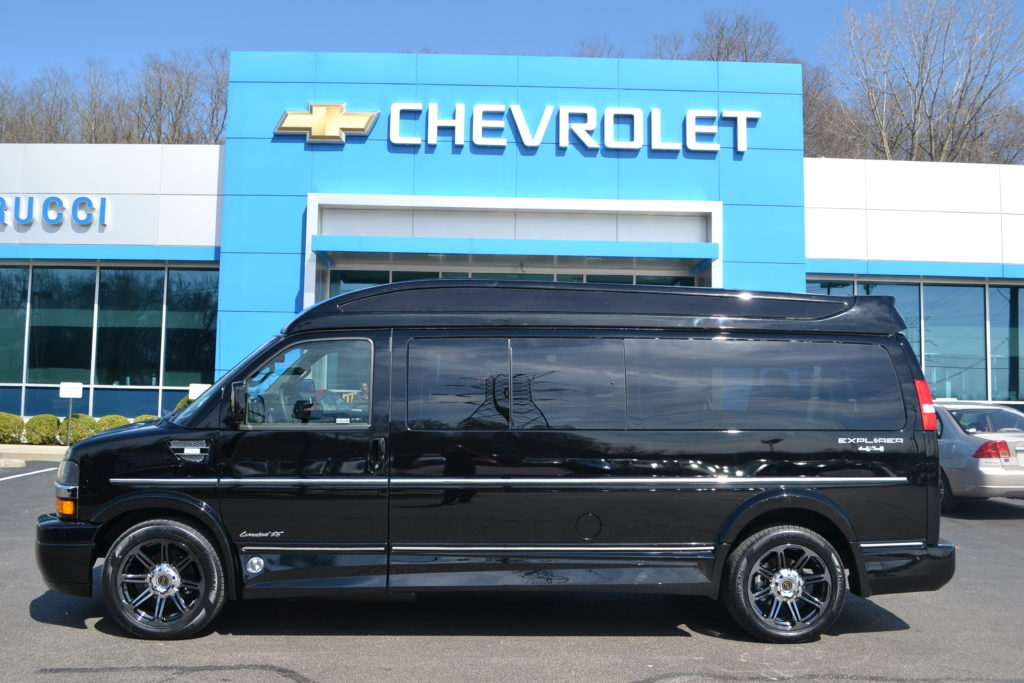 2018 4X4 9 Passenger Chevrolet Express Explorer Conversion Van Black J163477 Mike Castrucci Chevrolet Conversion Van Land