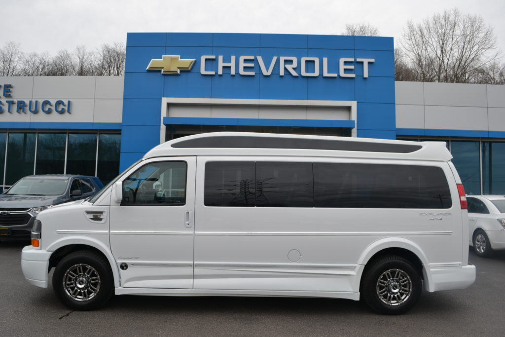 2017 4X4 Chevrolet Express 9 Passenger Explorer Limited X-SE Conversion Van Land Mike Castrucci Chevrolet White H1220792