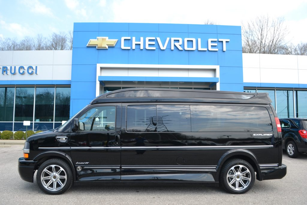 f85a9243cc 2017 Black Chevrolet 9 passenger Explorer Conversion Van Mike Castrucci  Chevrolet