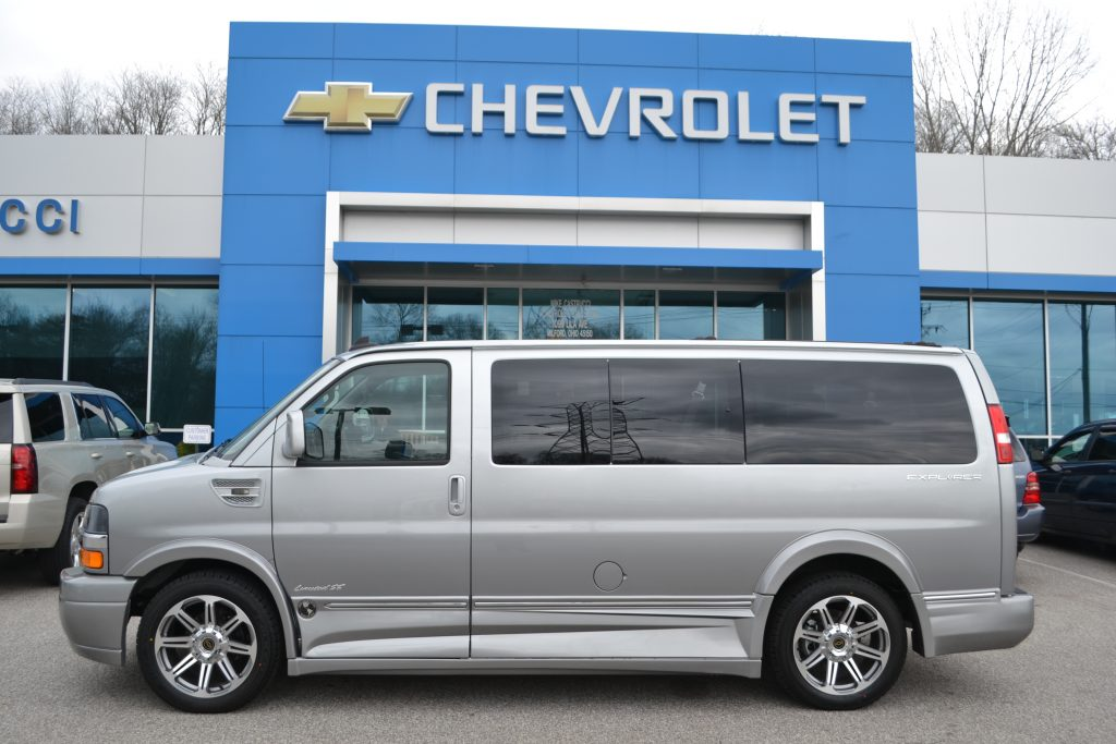 2016 Chevrolet Express Explorer Limited X-SE Silver Ice Metallic Fade. Conversion Van Land