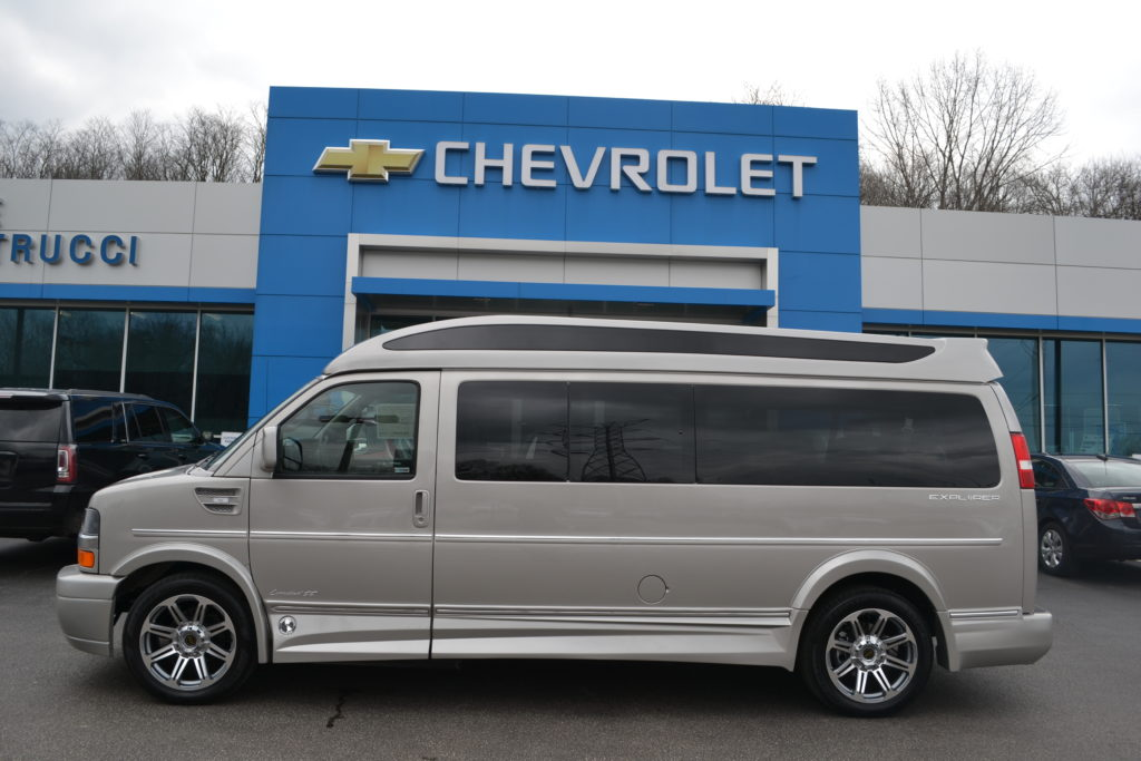 2018 Chevrolet Express 9 Passenger Explorer Conversion Van J1181440 Silver Birch Metallic Mike Castrucci Chevrolet Conversion Van Land