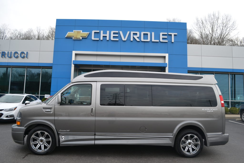 2018 Chevrolet Express 4X4 9 Passenger Explorer Conversion Van Silver Birch Fade J1180017 Mike Castrucci Chevrolet Conversion Van Land