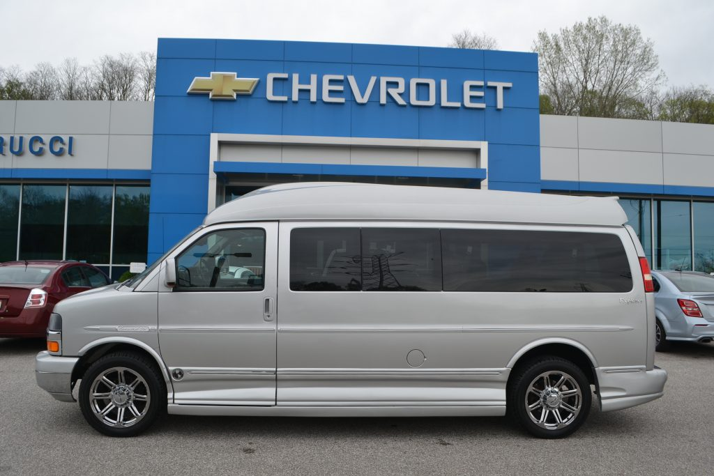 2012 Silver Chevrolet Express Explorer 9 Passenger Conversion Van Mike Castrucci Chevrolet