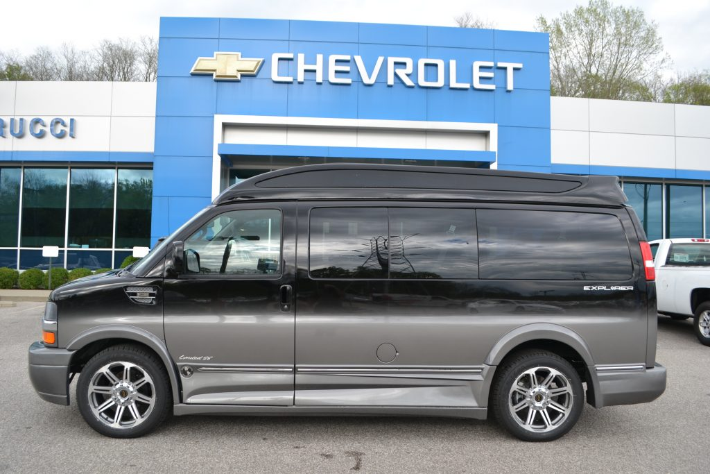2017 Chevrolet Express Explorer Conversion Van Black Fade Conversion Van Land