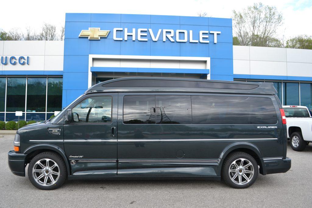 2017 Chevrolet Express Explorer Limited X-SE 9 Passenger Explorer Van Co Conversion Van Land