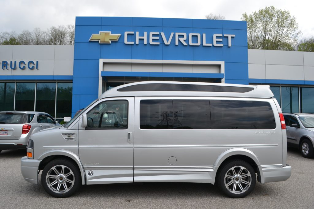 2016 Silver Ice Metallic Chevrolet Express Explorer Limited X-SE Conversion Van Land