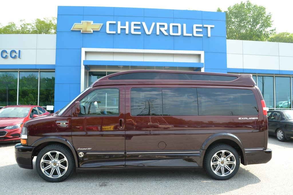 2017 Chevrolet Express, Explorer Limited X-SE Vista Cruiser Sport Roof, Red Fade