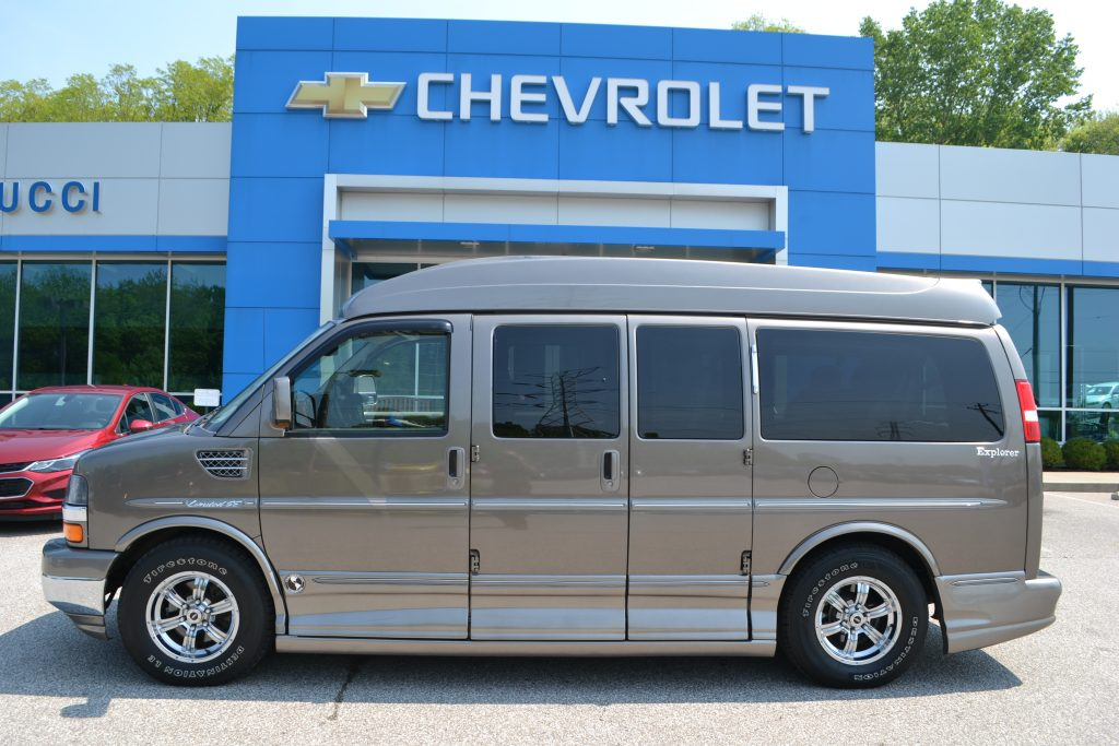 2011 AWD Chevrolet Express Explorer Limited X-SE Bronzemist Metallic Hi-top Van Conversion Van Land Mike Castrucci Chevrolet
