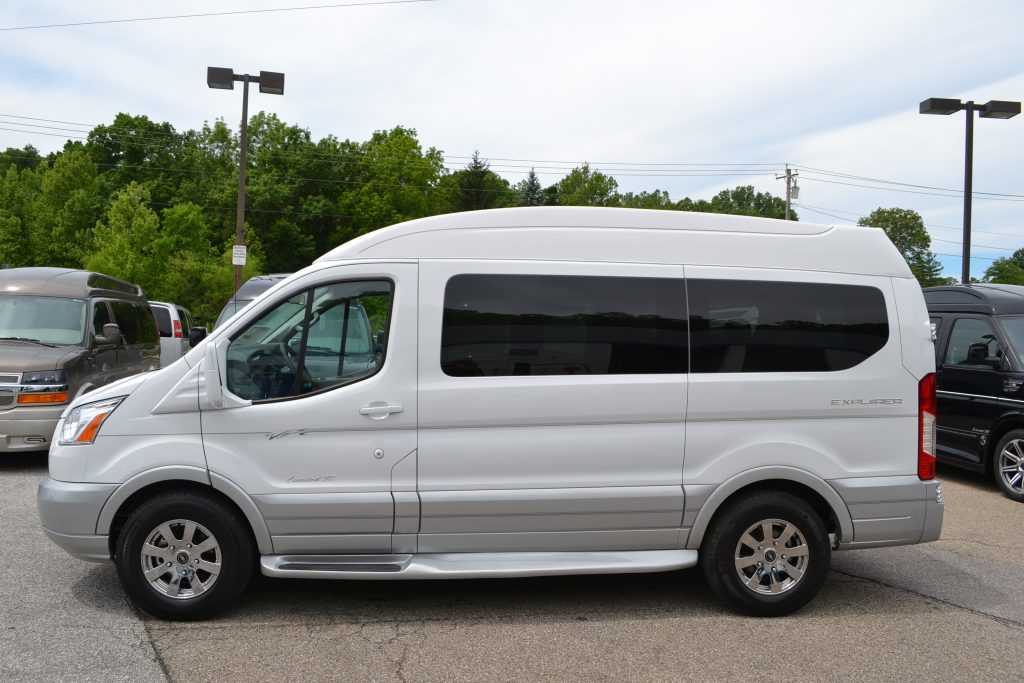 2017 White Ford Transit Hi top Explorer Conversion Van land